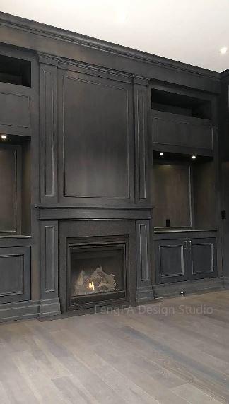 Black cabinets Markham