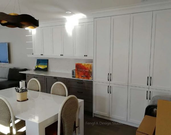 White built-ins Design