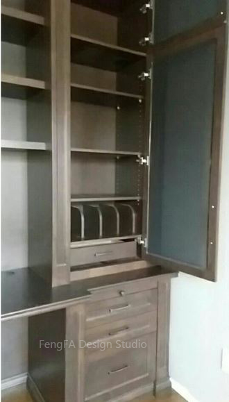 Black cabinets Vaughan