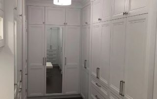 Walk In Closet with Built In Full Length Mirror