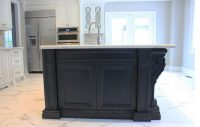 Black cabinets Vaughan