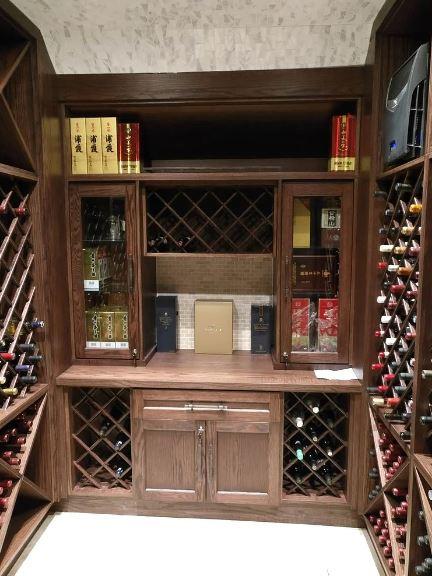 Classic style oak wine cellars