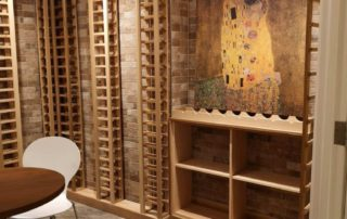 Clear cedar wine cellars in North York
