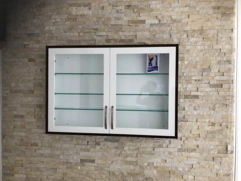 Inlay Glass Door Wall Cabinet