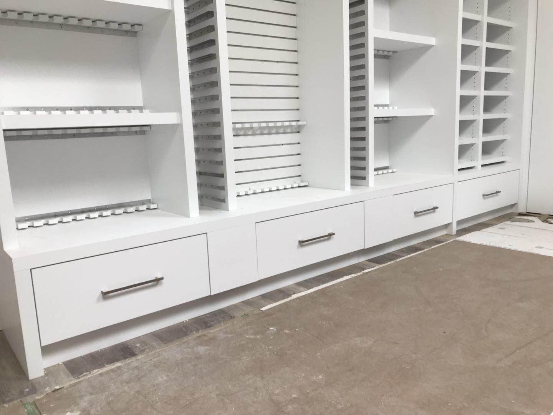 Storage Cabinet Unit with Adjustable Shelving Divider