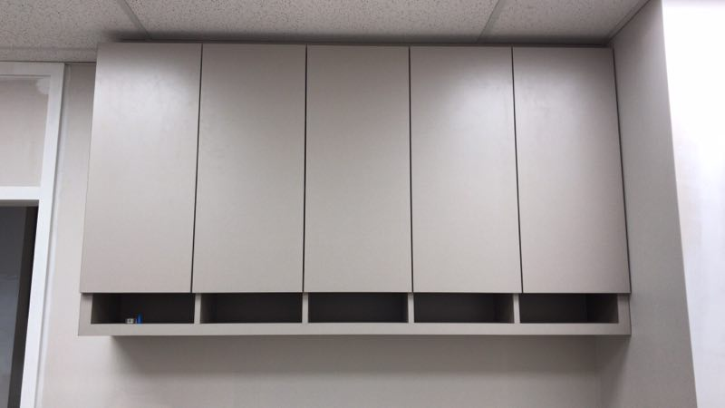 Upper Cabinets with Push Open Doors