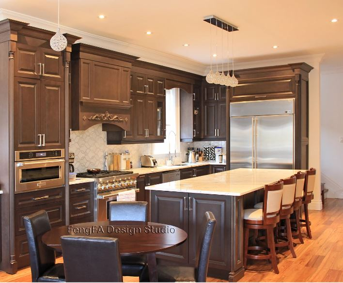 Traditional Kitchen with Dark Maple Doors - Overview