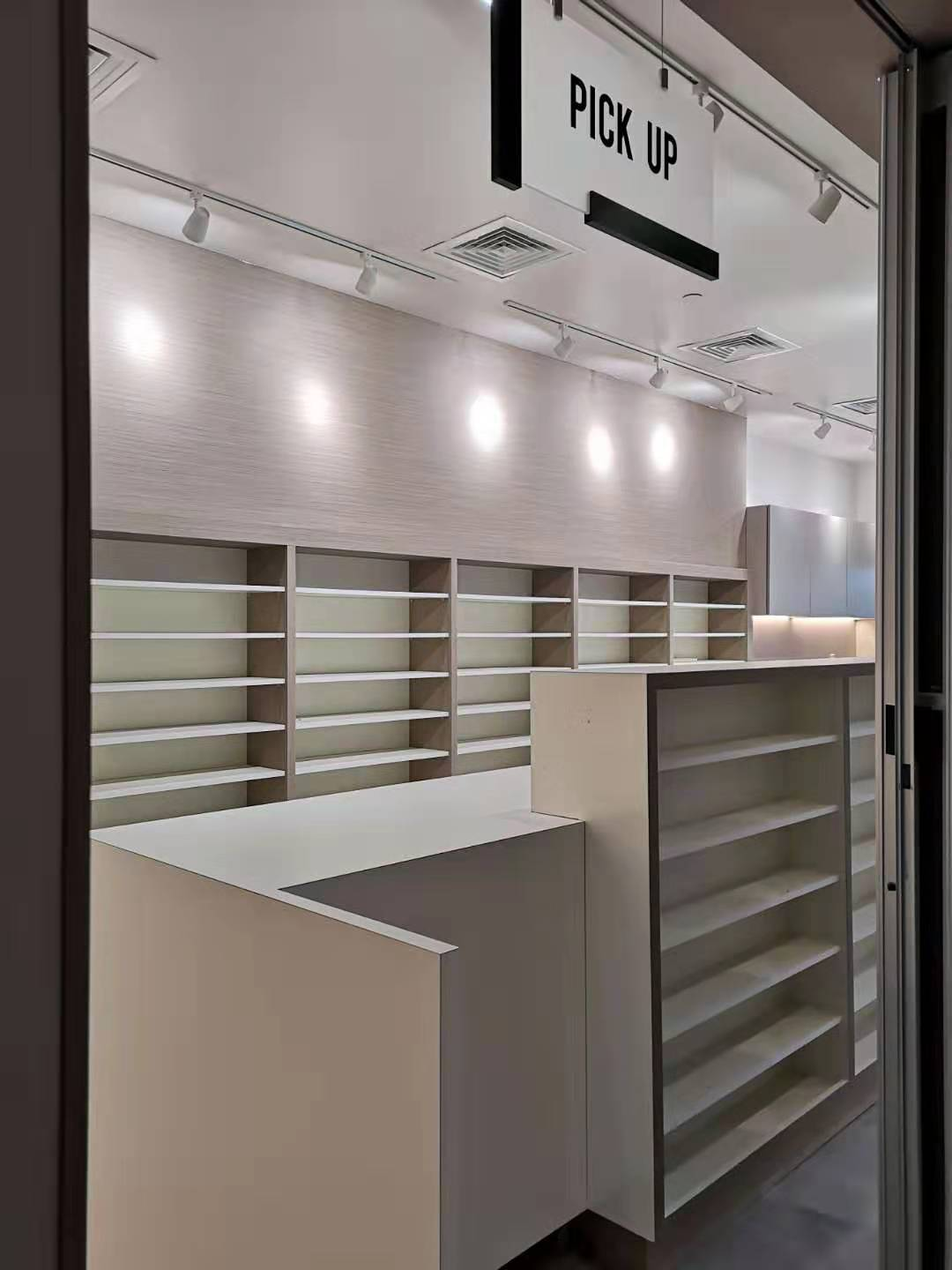 Concave Front Built In Cabinet