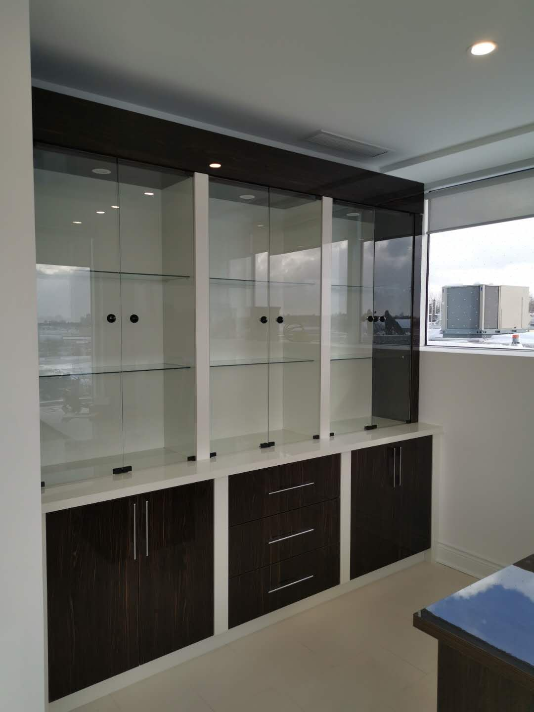 Glass Shelving Cabinetry