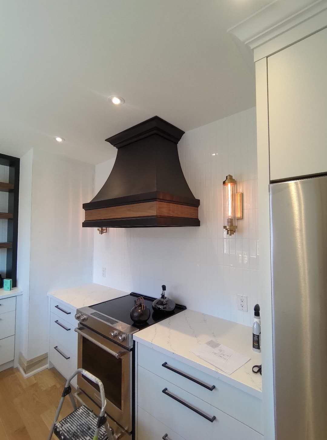 Special Designed Dark wooden kitchen ventilator