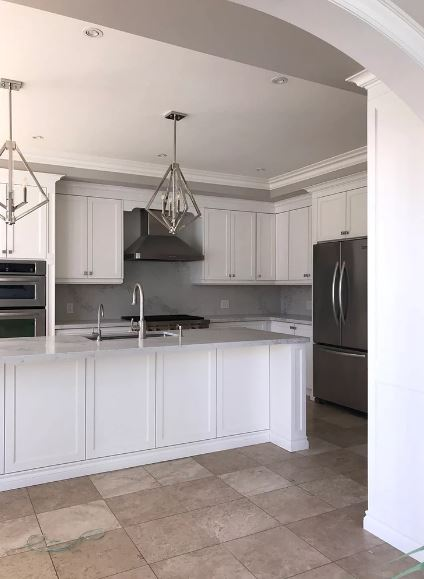 White cabinets Vaughan