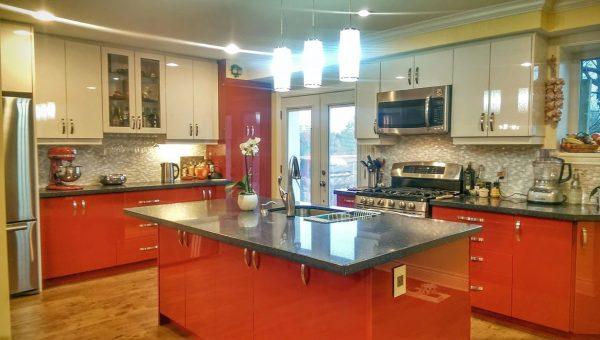High gloss cabinets Design
