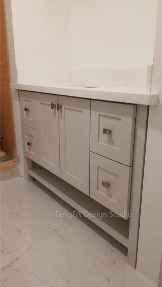 White vanity Design